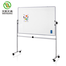 Modern lockable castors mobile writing whiteboard magnet customize with stand