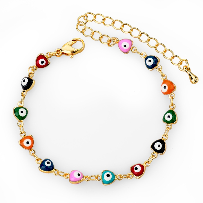 New Fashion Turkish Evil Eyes Hand Made Woven Bracelets Evil Eye Charms