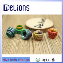 Delions factory Newest Vape Epoxy Resin cleito drip tips Wholesale price Resin 510 Drip tips 510 RDA/Hive resin drip tips
