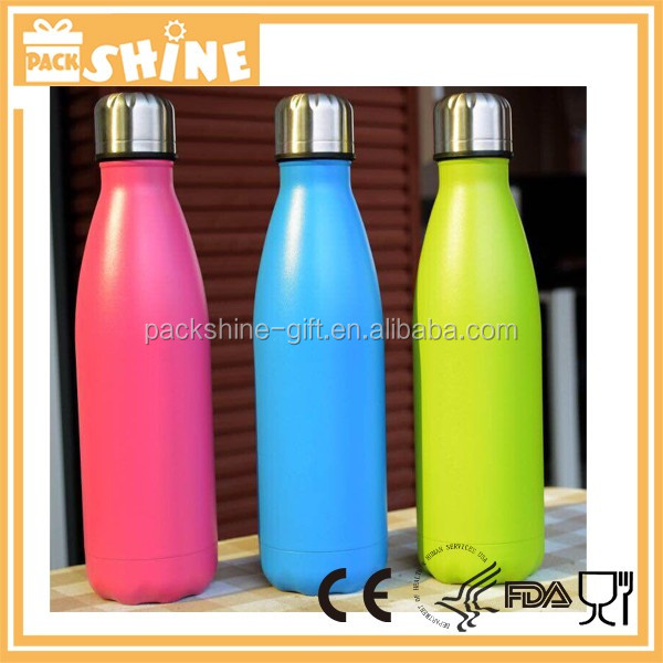 25 oz Mira/Water Vault/Cola cola shape vacuum water bottle 750ml insulated double wall stainless steel water bottle;