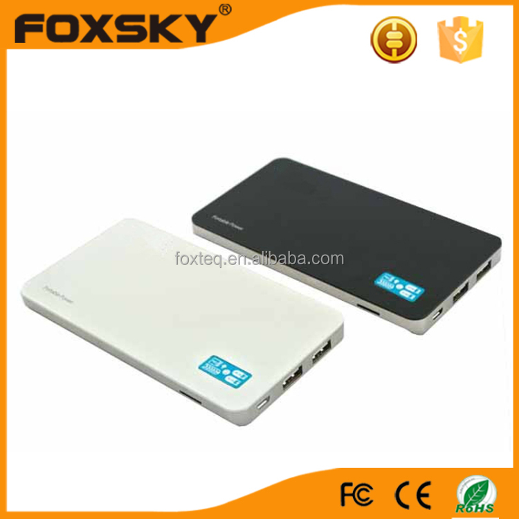 10000mah latest ultra-slim high quality dual usb portable power bank 10000mah for mobile phone
