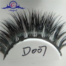 Natural soft Invisible band strip mink lashes,3d mink eyelashes strip in custom packaging