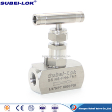 "316SS 1/4"" female thread 6000 PSI Needle Valve Best Wishes"