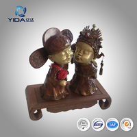 marriage blessing bronze statue wedding gifts for home decoration