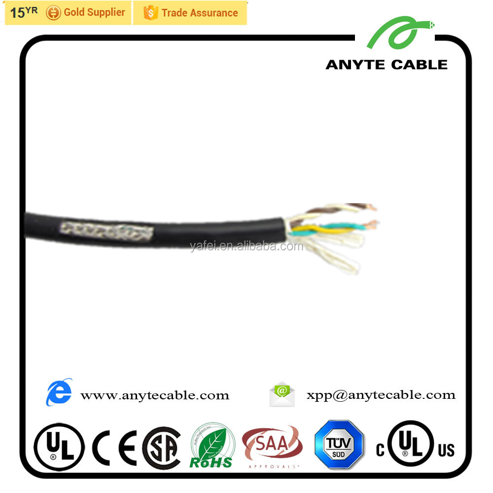 16 Twisted Pairs 18 Twisted Pairs 22 AWG Size UL2464 Shielded Cable