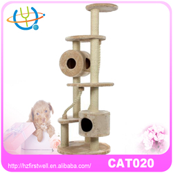 Sisal plush cat tree cat house cat agility training products for sale