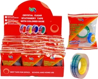 Crystal Clear Stationary Tape With Colored Base
