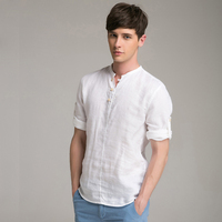 Alibaba China Wholesale High Quality Chinese Style Clothing Men's Linen Short Sleeve t shirt
