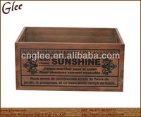 Antique wooden box & wooden crate with designs