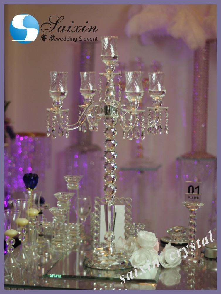 New crystal candelabra wedding event centerpieces zt 261 for Buy wedding centerpieces