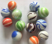 25 mm glass marble ball color solid transparent glass beads for game machine