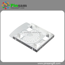 "Hot sale Aluminum Silvery color Hard drive disk mounting bracket 3.5"" Can fix a 8cm fan"