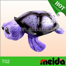Baby soother quality turtle shaped fur night light with soft music