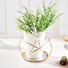 Elegant Design Metal mirror Tray For Decorative Flower Pots