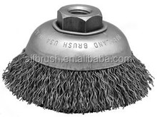 4 inch curving Wire Cup Brush, 5/8 ''UNC