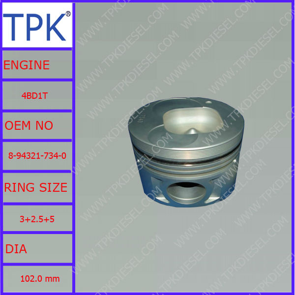 Isuzu 4BD1T PISTON, 8-94321-734-0 8-97176-836-0