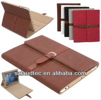 For ipad air case leather Buckle Belt Faux Leather Stand Folio Foldable Case Cover For iPad air