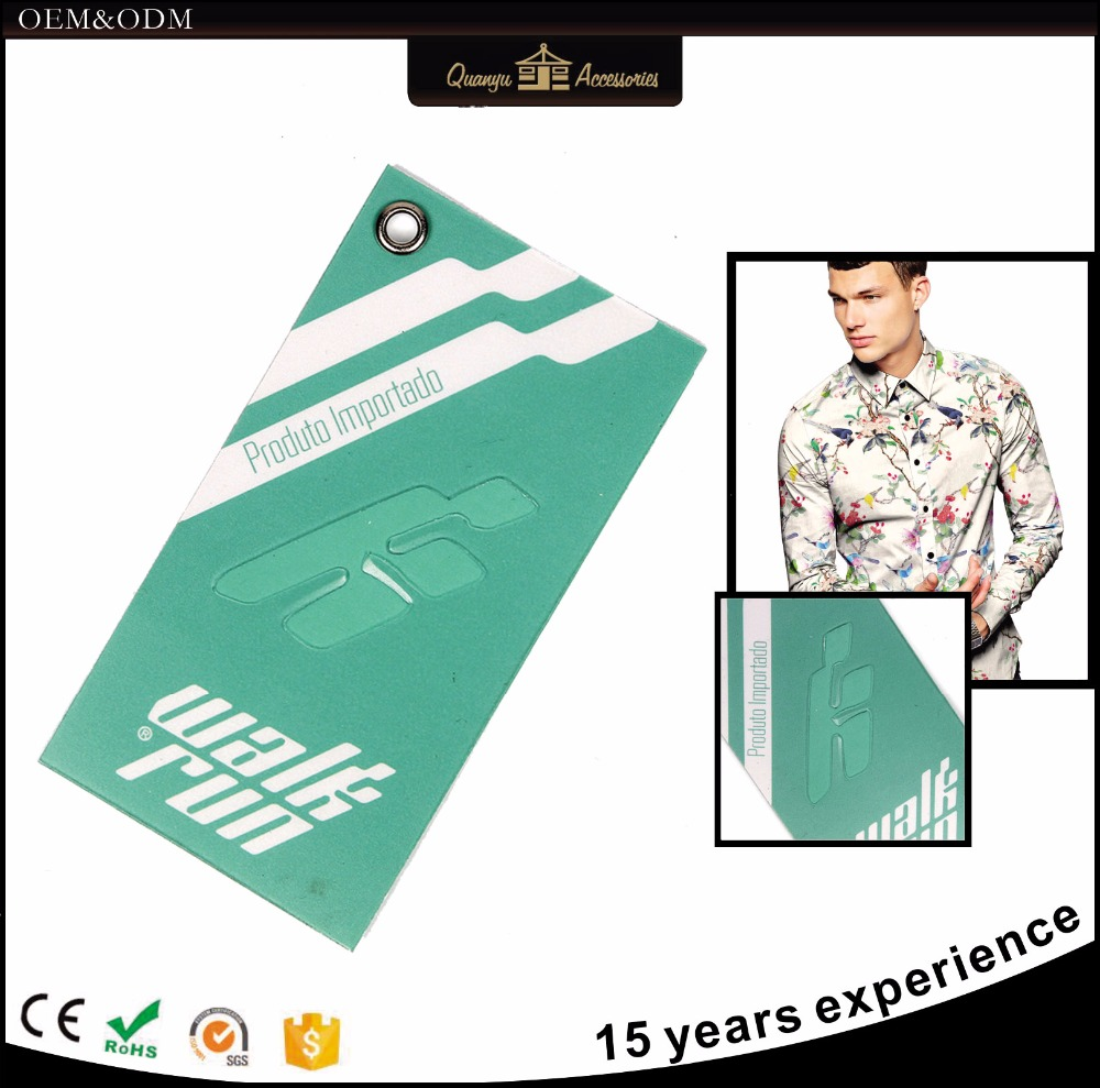 Large brand garment shoes bag hang tag paper