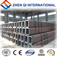 Shanghai supply Q195 Q235 Square Welded Hollow Section Steel Tube / Pipe