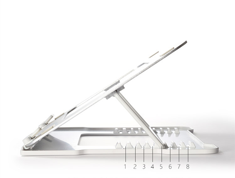 Economy portable folding adjustable ventilated plastic laptop stand