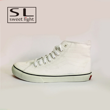 Wholesal custom fancy shop white no lace mens canvas shoes online