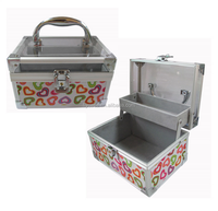 aluminum makeup artist small cosmetic case make up kit box