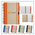 New Customized spiral notebook with kraft paper cover for promotional gift agenda 2017