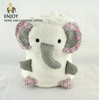 Elephant design thick polyester latest design baby soft blanket
