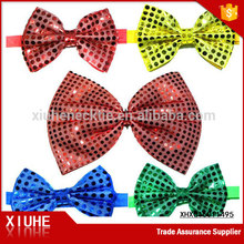 now styles lovely handmade red Sequin bow hair bow