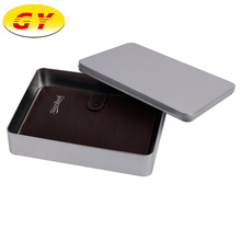 New style large storage rectangle gift wallet tin box in DongGuan