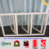 White Color Rehau UPVC casement window supplier in Fujian China