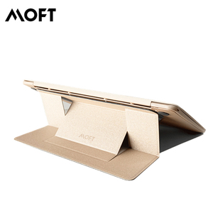 MOFT Adhesive Laptop Stand with Patent Gold Table Fit Up to 15.6 Inch Laptop with Adjustable Angle Desk