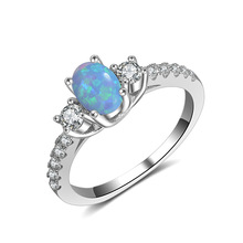 wholesale jewelry silver Textured Opal Stacking Slim Gemstone Rings for women