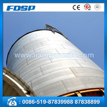 large hopper bottom steel silo with steel cone