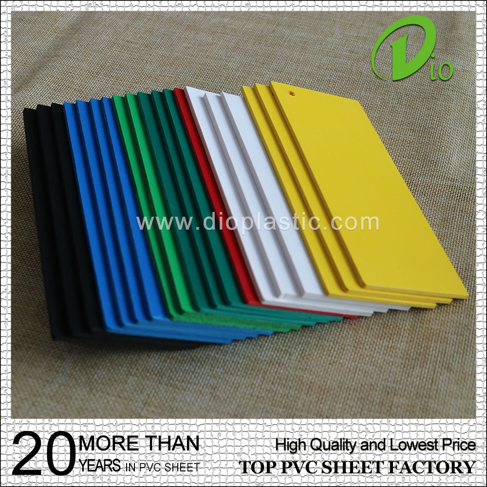 1mm 2mm 3mm 4x8 foot foam board color pvc flexible plastic sheet