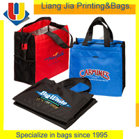 Zipper Polyester Nylon Insulated Lunch Tote Bag