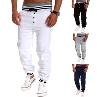 Harem Pants Fashion 2015 Casual Skinny Sweatpants Sport Pants Trousers Drop Crotch Jogging Pants Men Joggers Sarouel