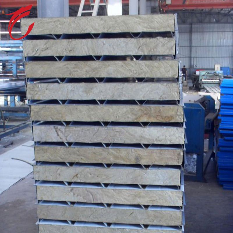 fireproof rock wool sandwich panel made in shijiazhuang china for best price