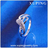 11763 Xuping New Item Product Rhodium Ring, Wedding Jewelry Engagement Rings