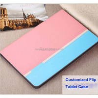 Mix Color Customized Leather Cover Stand Tablet Case for Samsung P3200 for Samsung Galaxy Tab 3