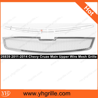 Car parts 2011-2014 Chevy Cruze Stainless Steel Mesh Chrome Grille