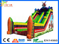 Newest en14906 pvc tarpaulin kids circus inflatable funny clown buffoon inflateable slide