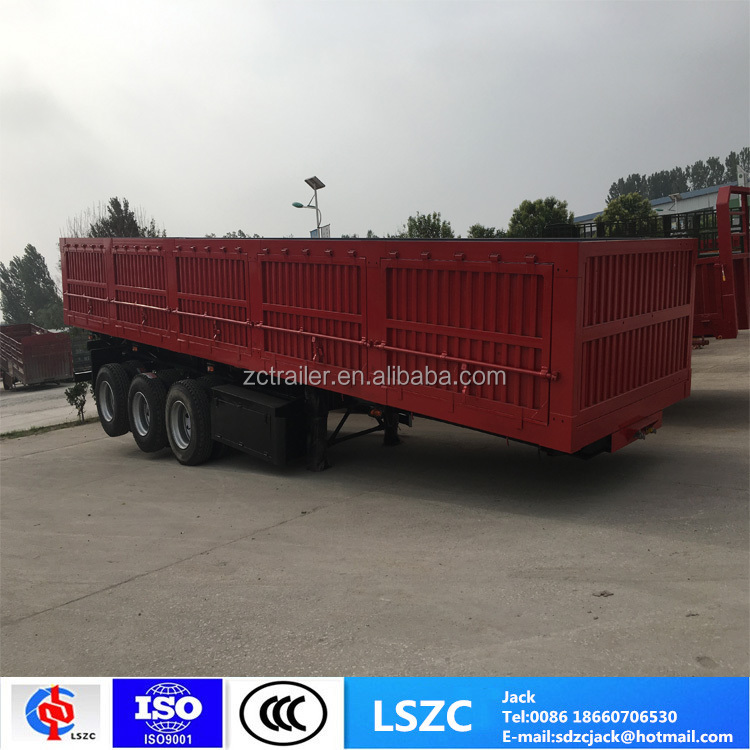 60T-80T 3 axle dump semi trailer truck tipper trailer
