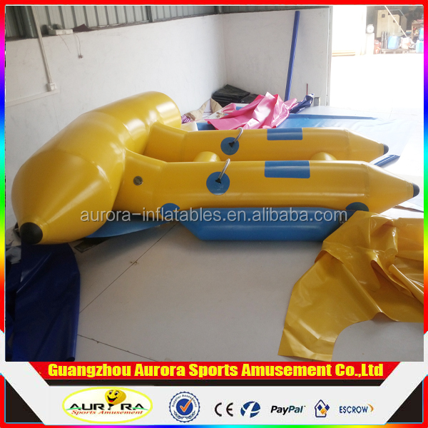 Mobile Water Park Rubber Boats / Flying Fish Boat / Inflatable Flying Fish Towable For Adult Flying Fish Ride