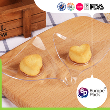 EPK environmental material transparent cheese plate plastic triangle dish with cheap price