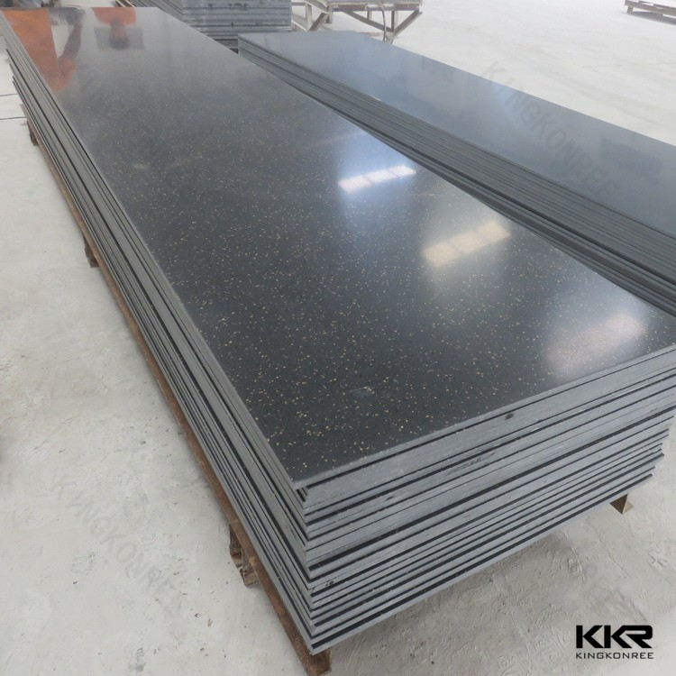 black color artificial marble stone solid surface for kitchen tops