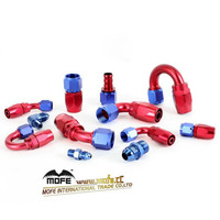 20PCS/LOT Oil / Fuel Adaptor Swivel Straight + 45 + 90 + 180 Degree Reusable AN Fittings Hose End