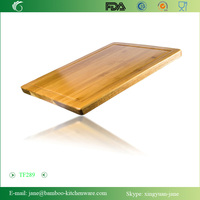 Unique Design of Acacia Wood and Bamboo Dual Material Two in One new cutting board with juice groove
