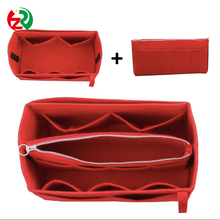 New arrival Three-piece suit women cosmetic bags lightweight fashion felt purse organizer as per Christmas gift