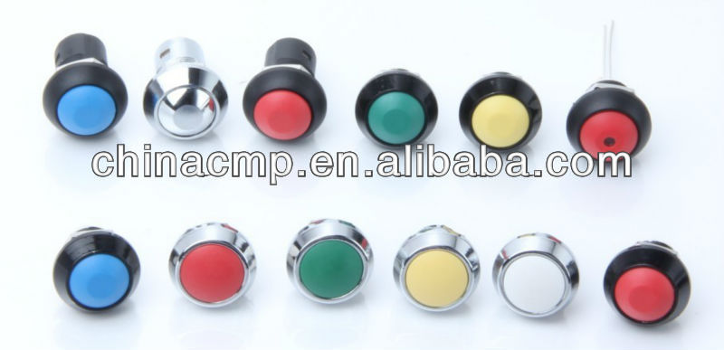 CMP 12mm waterproof ip67 switch button with light